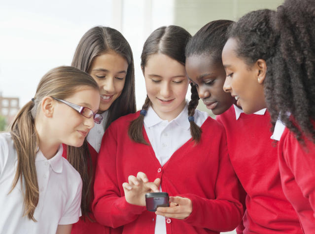 A Welsh school has done a u-turn on banning mobile phones. [Photo: Getty]