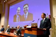 FILE PHOTO: Announcement of 2021 Nobel Prize in Physiology or Medicine