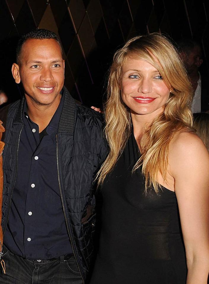 "Though she hasn't officially confirmed she's dating New York Yankees slugger Alex Rodriguez, Cameron Diaz told <i>Harper's Bazaar</i>, ""I grew up with the Dodgers, but now I'm a Yankees fan."" George Pimentel/<a href=""http://www.gettyimages.com/"" target=""new"">GettyImages.com</a> - February 6, 2010"