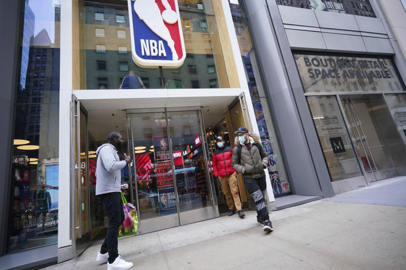 Count the NBA among the pro rent-strike crowd. (John Nacion/Getty Images)