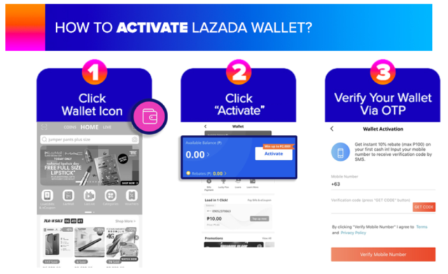 lazada wallet - how to activate