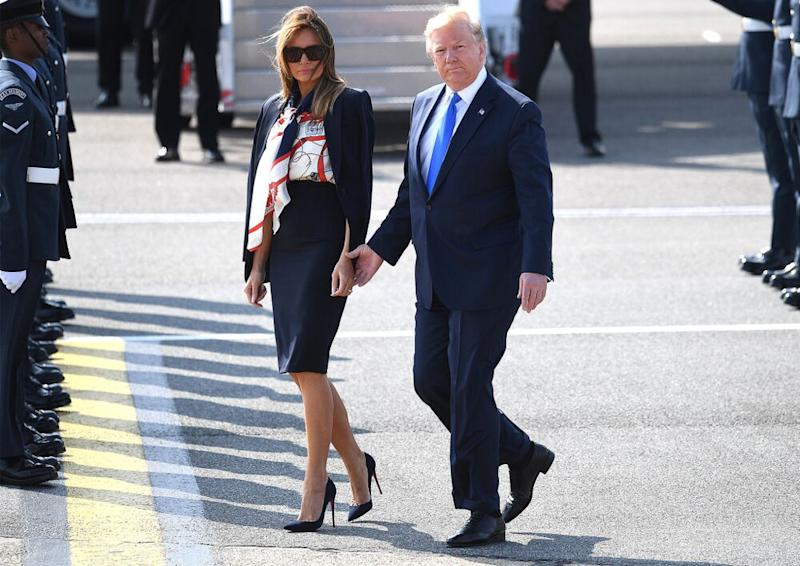 President Donald Trump and First Lady Melania Trump arriving in England in June 2019. | Leon Neal/Getty