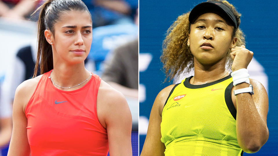Naomi Osaka and Olga Danilovic, pictured here in action at the US Open.