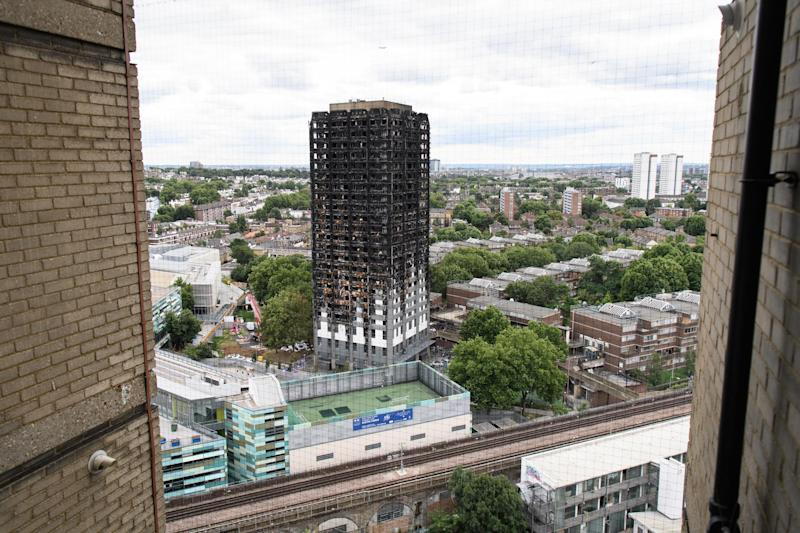 Grenfell Tower, pictured shortly after the disaster which killed 72 people: Getty/Leon Neal