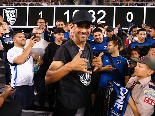 "San Jose Earthquakes forward Chris Wondolowski served his first-ever red card suspension with the Earthquakes' fan group, the <a class=""link rapid-noclick-resp"" href=""/soccer/players/372809/"" data-ylk=""slk:San Jose"">San Jose</a> Ultras. (Kelley L Cox-USA TODAY Sports)"