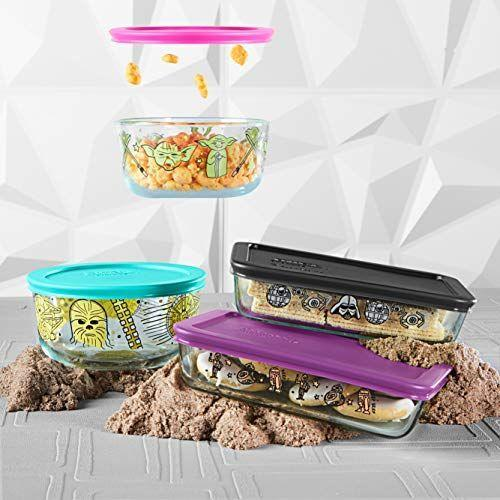 """<p><strong>Pyrex</strong></p><p>amazon.com</p><p><strong>$39.58</strong></p><p><a href=""""https://www.amazon.com/dp/B086T4ZXX5?tag=syn-yahoo-20&ascsubtag=%5Bartid%7C1782.g.29568867%5Bsrc%7Cyahoo-us"""" rel=""""nofollow noopener"""" target=""""_blank"""" data-ylk=""""slk:BUY NOW"""" class=""""link rapid-noclick-resp"""">BUY NOW</a></p><p>Keep your food fresh with these high quality Pyrex containers that are even better because of their <em>Star Wars </em>designs. They feature Chewbaca, Yoda, Darth Vader, and more, and will look so good on your fridge shelves.</p>"""