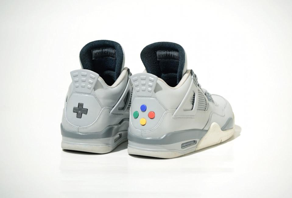 """<p>The sneaker game has already been upped this 2017 by Air Jodan's new """"Super Nintendo"""" custom. The shoes pay homage to the classic Nintendo gaming system complete with iconic buttons and logo bringing back super nostalgic feels. [Photo: Air Jordan/ Freaker Sneaks] </p>"""