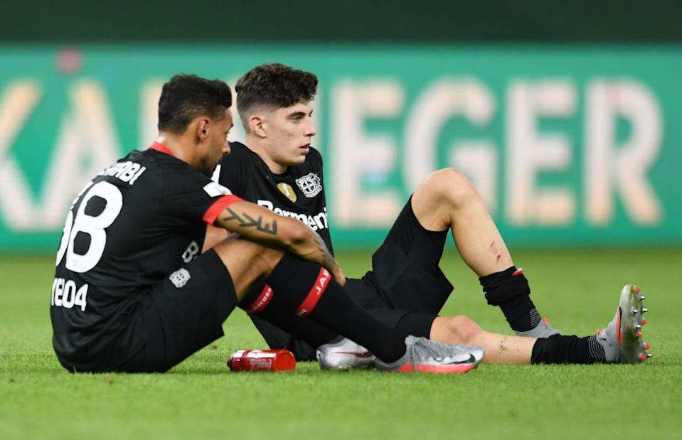 BERLIN, GERMANY - JULY 04: Bayer Leverkusen's Kai Havertz looks dejected after the DFB Cup final match between Bayer 04 Leverkusen and FC Bayern Muenchen at Olympiastadion on July 4, 2020 in Berlin, Germany. (Photo by Annegret Hilse/Pool via Getty Images)