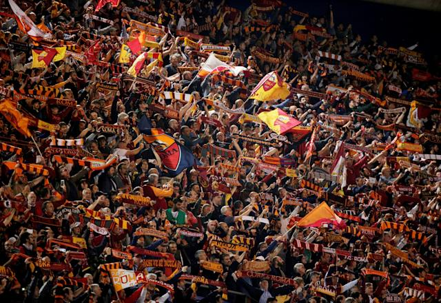 Soccer Football - Champions League Semi Final Second Leg - AS Roma v Liverpool - Stadio Olimpico, Rome, Italy - May 2, 2018 Roma fans inside the stadium before the match REUTERS/Max Rossi TPX IMAGES OF THE DAY