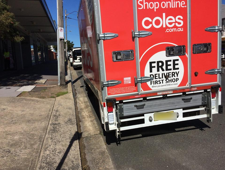 Coles said it would take the issue up with the driver and its online team. Source: Facebook