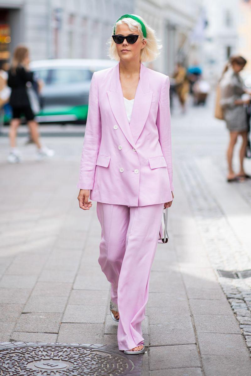 <p>The trouser suit is an office wardrobe staple. Add some seasonal zing to the look by choosing a set in sweet sorbet or pastel hues. If you're feeling extra keen, why not team your co-ords with contrasting colour accessories like a headband or handbag?</p>