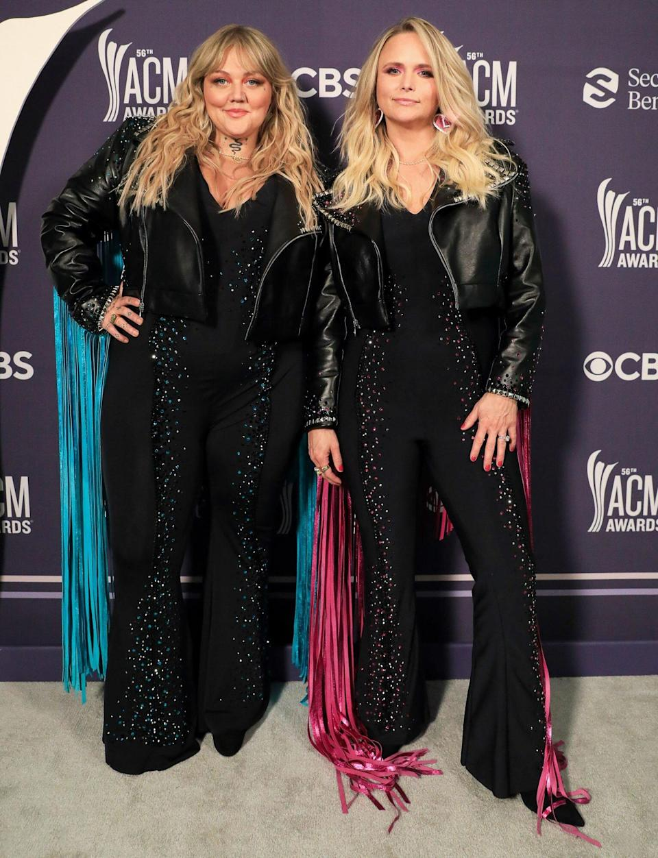 Elle King and Miranda Lambert arrive at the 56TH ACADEMY OF COUNTRY MUSIC AWARDS
