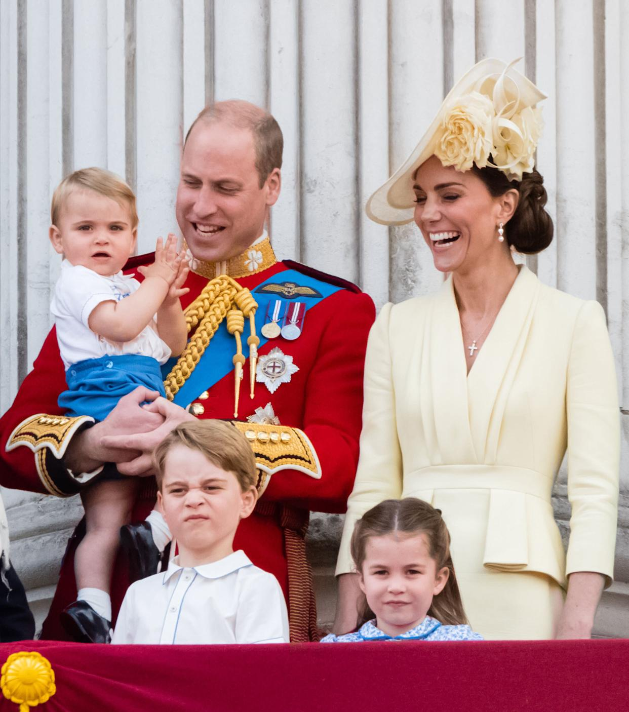 Prince George watches Trooping the Colour in June with his brother, Prince Louis, sister Princess Charlotte and their parents. (Photo: Samir Hussein via Getty Images)