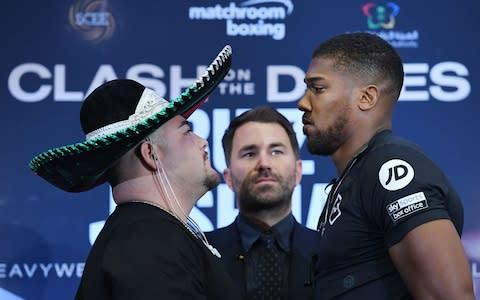 <span>Anthony Joshua's defeat against Ruiz was his first as a pro</span> <span>Credit: REX </span>