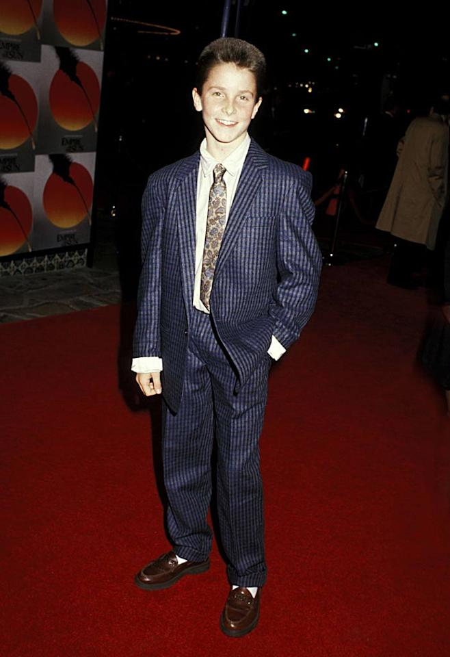 "Precocious 12-year-old child star Christian Bale stole the spotlight from actors including John Malkovich in Steven Spielberg's 1987 WWII epic ""Empire of the Sun."" Jim Smeal/Ron Galella/<a href=""http://www.wireimage.com"" target=""new"">WireImage.com</a> - December 8, 1987"