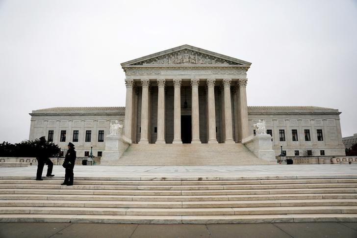 FILE PHOTO -- The Supreme Court is seen ahead of the Senate voting to confirm Judge Neil Gorsuch as an Associate Justice