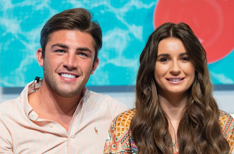 Jack Fincham and Dani Dyer during the 'Love Island Live' photocall at ICC Auditorium on August 10, 2018 in London, England. (Photo by Samir Hussein/WireImage)