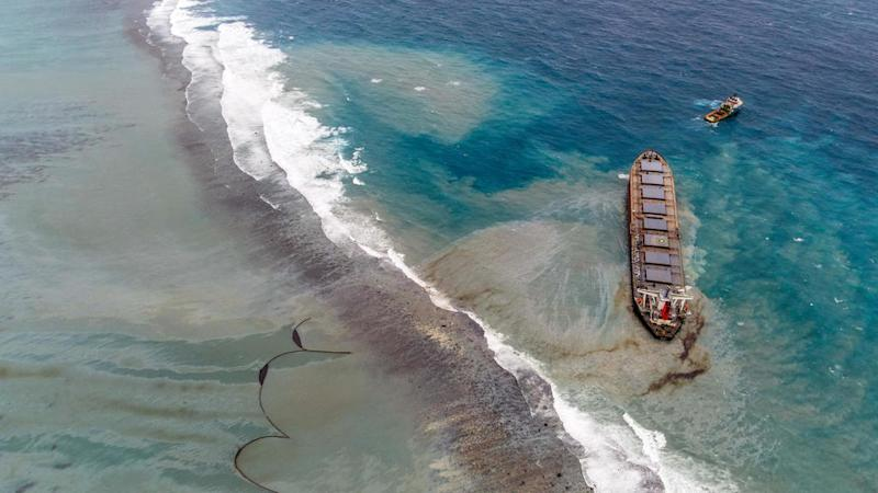 Mauritius prepares for the worst as vessel at centre of oil spill disintegrates