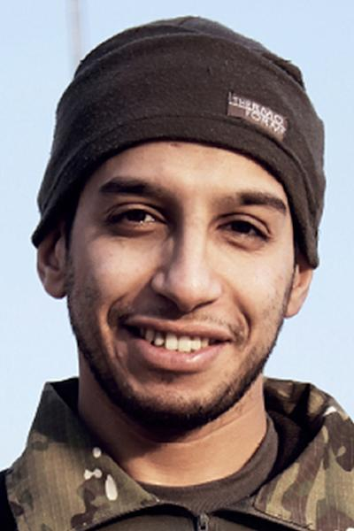 A photo from the February 2015 issue 7 of the Islamic State (IS) group online English-language magazine Dabiq, purportedly shows 27-year-old Belgian IS group leading militant Abdelhamid Abaaoud (AFP Photo/-)