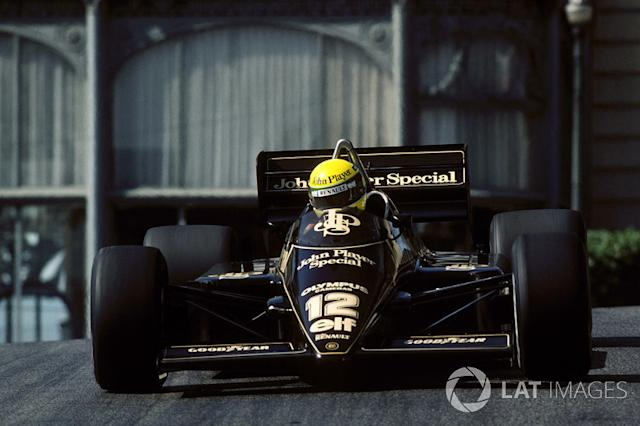 "Ayrton Senna, Lotus 97T <span class=""copyright"">Sutton Motorsport Images</span>"