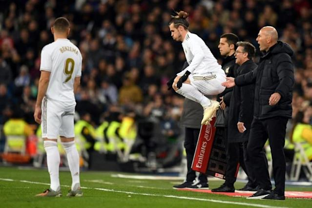 Bale was jeered when he came on as a substitute against Real Sociedad (AFP Photo/PIERRE-PHILIPPE MARCOU)
