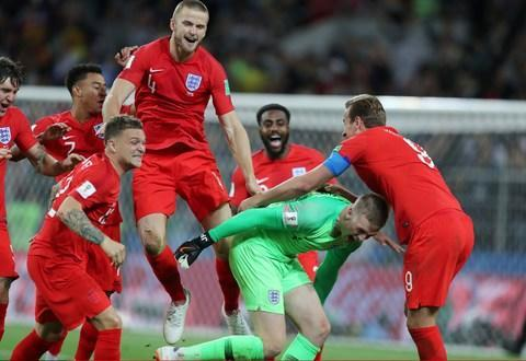 <span>Eric Dier scored the winning penalty but Jordan Pickford had a literal strong hand in helping England progress</span> <span>Credit: corbis sport </span>
