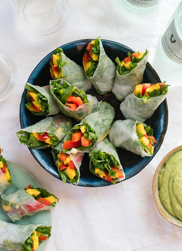 """<p>You'll have no problem eating your vegetables when these <a href=""""http://cookieandkate.com/2015/tropical-mango-spring-rolls/"""" target=""""_blank"""" class=""""ga-track"""" data-ga-category=""""Related"""" data-ga-label=""""http://cookieandkate.com/2015/tropical-mango-spring-rolls/"""" data-ga-action=""""In-Line Links"""">tropical mango spring rolls</a> are what's for lunch.</p>"""
