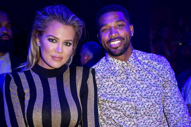 Khloe Kardashian and Tristan Thompson in Miami, Sept. 18, 2016. (Photo: Getty Images)