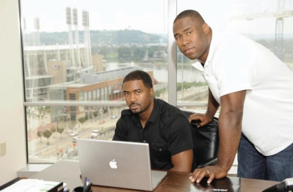 Charles Fisher, left, and John Thornton went from college teammates to future business partners. (Courtesy of Charles Fisher)