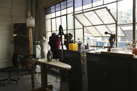 A clothing designer area is pictured at TechShop in the South of Market neighborhood in San Francisco, California April 24, 2014. REUTERS/Robert Galbraith
