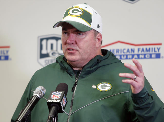 Former Green Bay Packers head coach Mike McCarthy has reportedly agreed to become the Cowboys' new head coach. (AP Photo/Bruce Kluckhohn, File)