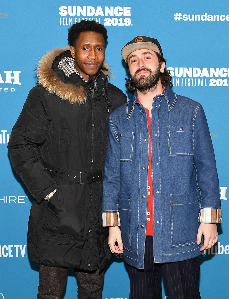 """PARK CITY, UT - JANUARY 26:  Actor Jimmie Fails (L) and director Joe Talbot attend the """"The Last Black Man In San Francisco"""" Premiere during the 2019 Sundance Film Festival at Eccles Center Theatre on January 26, 2019 in Park City, Utah.  (Photo by Dia Dipasupil/Getty Images)"""