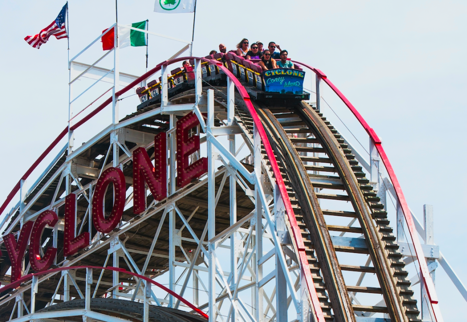 The stock market's roller coaster ride continues. (Getty)