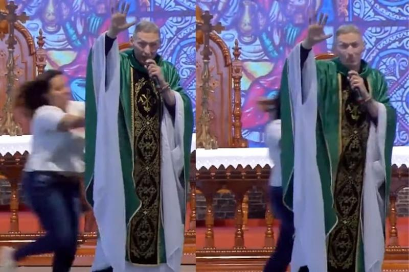 Was a Brazil Priest Really Pushed Off Stage for Saying 'Fat Women Can't Go to Heaven'?