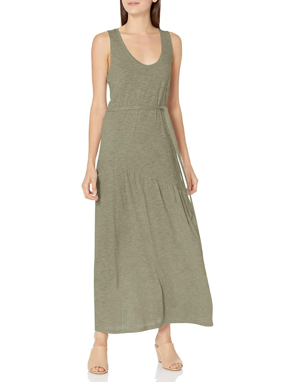 """<br><br><strong>Lucky Brand</strong> Eliza Belted Maxi Dress, $, available at <a href=""""https://amzn.to/3vTLFbM"""" rel=""""nofollow noopener"""" target=""""_blank"""" data-ylk=""""slk:Amazon"""" class=""""link rapid-noclick-resp"""">Amazon</a>"""