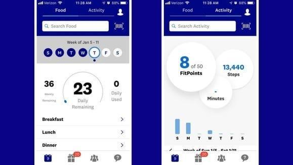On the WW app, you track everything you eat and drink, as well as your workouts.