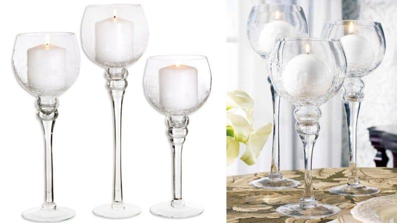 These candle holders would look lovely on a holiday table.