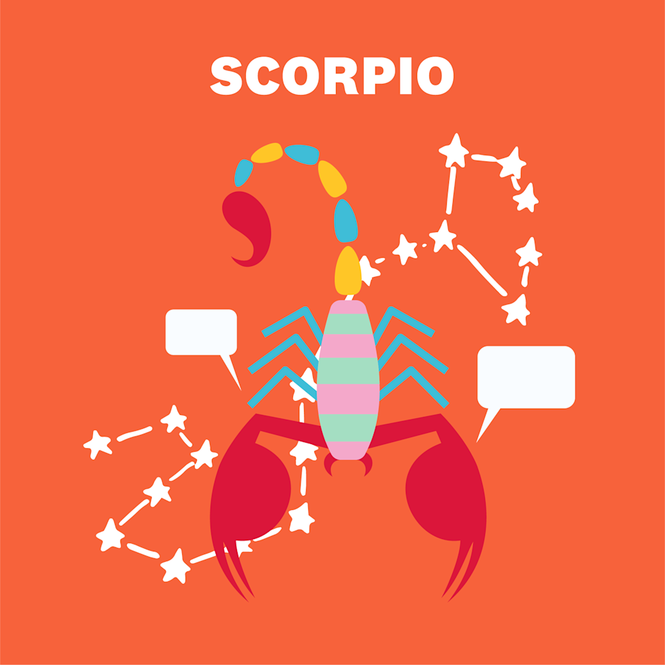 "<p>Sometimes, life gives you just the kick in the butt you need, <a href=""https://www.womenshealthmag.com/life/a29538247/scorpio-zodiac-sign-traits/"" rel=""nofollow noopener"" target=""_blank"" data-ylk=""slk:Scorpio"" class=""link rapid-noclick-resp"">Scorpio</a>. It's coming your way on the 1st, thanks to the full moon in your house of health, work, and routine. You'll take a solid look at just about everything in your life and try to figure out how to make it even better. Eating healthier? Check. Exercising on the reg? Done. Crushing it at work? You know it. </p><p>On the 2nd, Venus moves into a sector of your chart about friendships, making it a great night to schedule a Zoom happy hour. Btw, things at work are going to just ~flow~. You've got a solid work-life balance going on, so kick back and enjoy.</p>"