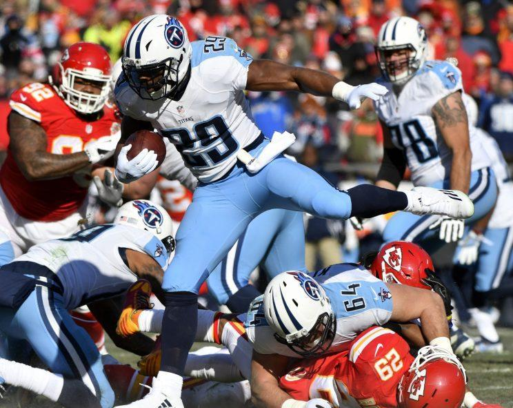 The Chiefs blew a 14-0 lead and lost to the Titans. (AP)