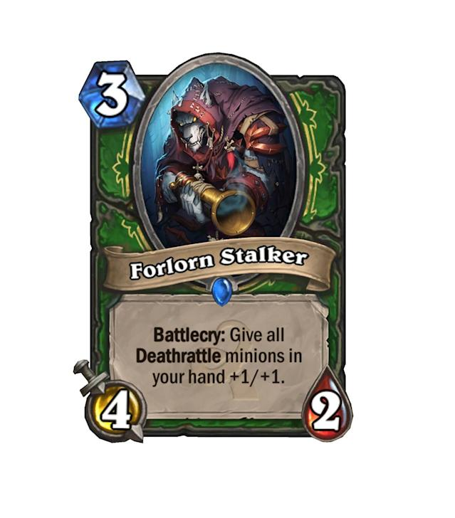 <p>Hunter has a ton of viable Deathrattle cards, but are there enough to make Forlorn Stalker worth it? He's got solid stats for 3 mana, but it seems a bit too situational for regular constructed play.</p>