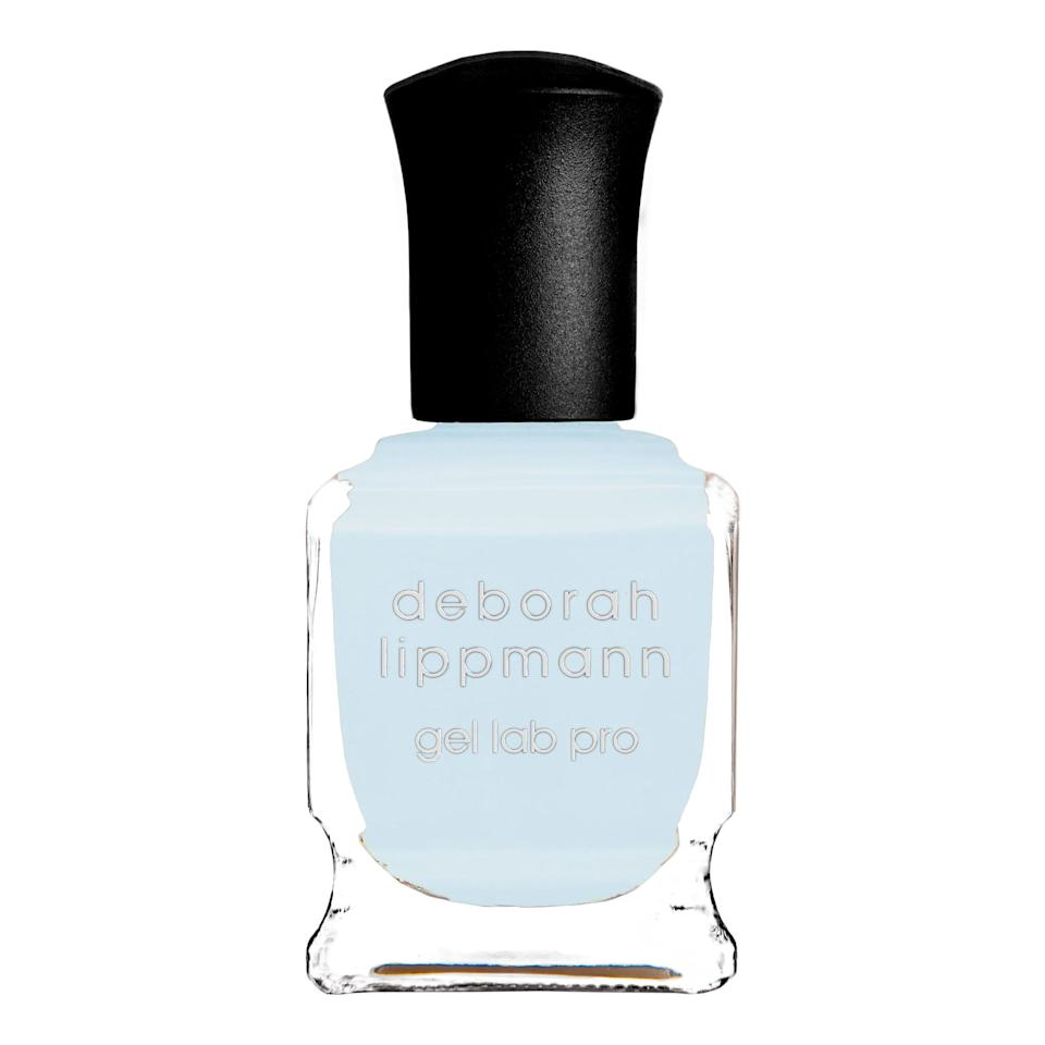 """<p>A cool baby blue is what Miss Pop calls """"chill vibes in a bottle."""" She loves the Deborah Lippmann Gel Lab Pro polish in Above the Clouds, which has a formula that dries with full opacity in as little as one coat.</p> <p><strong>$20</strong> (<a href=""""https://shop-links.co/1721340088645624111"""" rel=""""nofollow noopener"""" target=""""_blank"""" data-ylk=""""slk:Shop Now"""" class=""""link rapid-noclick-resp"""">Shop Now</a>)</p>"""