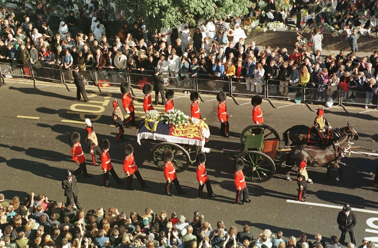 Image result for funeral for princess diana