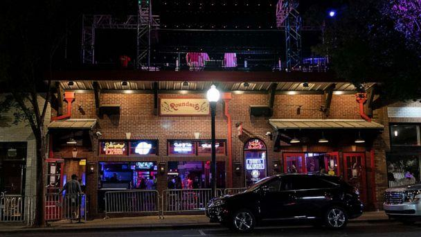 PHOTO: Rounders Bar, on The Strip, the University of Alabama's bar scene, sees limited patronage as bars were restricted to half capacity and early closing hours, Aug. 15, 2020, in Tuscaloosa, Ala. (Vasha Hunt/AP, FILE)