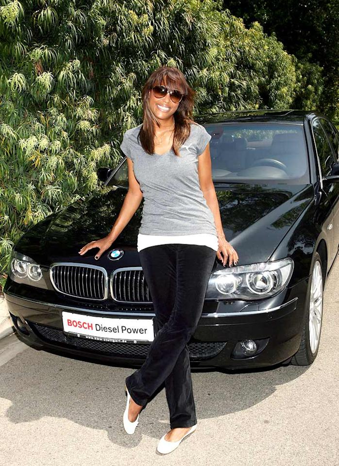 "Not only is Aisha Tyler attractive, but so is her eco-friendly ride. This Bosch Clean Diesel BMW costs a pretty penny, but going green is worth every cent. Jesse Grant/<a href=""http://www.wireimage.com"" target=""new"">WireImage.com</a> - July 28, 2008"