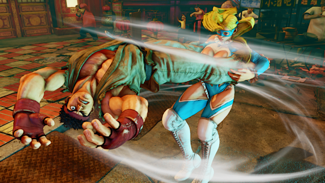 Ryu vs R. Mika, Street Fighter V (Capcom)