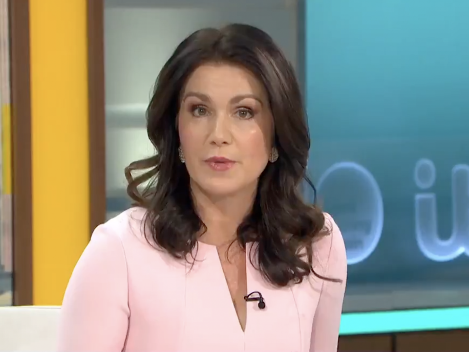 <p>Susanna Reid appears on Good Morning Britain without Piers Morgan</p> (ITV)