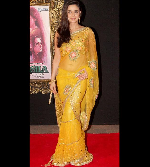 Preity looks pretty in yellow
