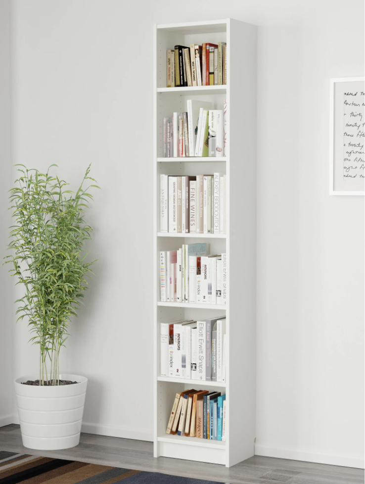 """<p>The trick here: Take a few of the shelves <em>out </em>of these narrow storage pieces to create space to hang backpacks and coats on hooks, while tucking shoes underneath.</p><p>Get a tutorial at <a href=""""http://www.polkadotchair.com/2011/01/make-your-own-mud-room-lockers.html/"""" rel=""""nofollow noopener"""" target=""""_blank"""" data-ylk=""""slk:Polka Dot Chair"""" class=""""link rapid-noclick-resp"""">Polka Dot Chair</a>.</p><p><a class=""""link rapid-noclick-resp"""" href=""""https://go.redirectingat.com?id=74968X1596630&url=https%3A%2F%2Fwww.ikea.com%2Fus%2Fen%2Fcatalog%2Fproducts%2F50263838%2F&sref=https%3A%2F%2Fwww.countryliving.com%2Fhome-maintenance%2Fg37186772%2Fentryway-ikea-hacks%2F"""" rel=""""nofollow noopener"""" target=""""_blank"""" data-ylk=""""slk:BUY NOW"""">BUY NOW</a><em><strong> Billy Bookcases. $39</strong></em></p>"""