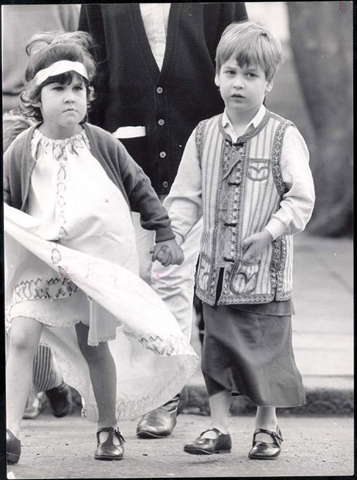 Throwback image of Prince William as a child outfitted as a shepherd