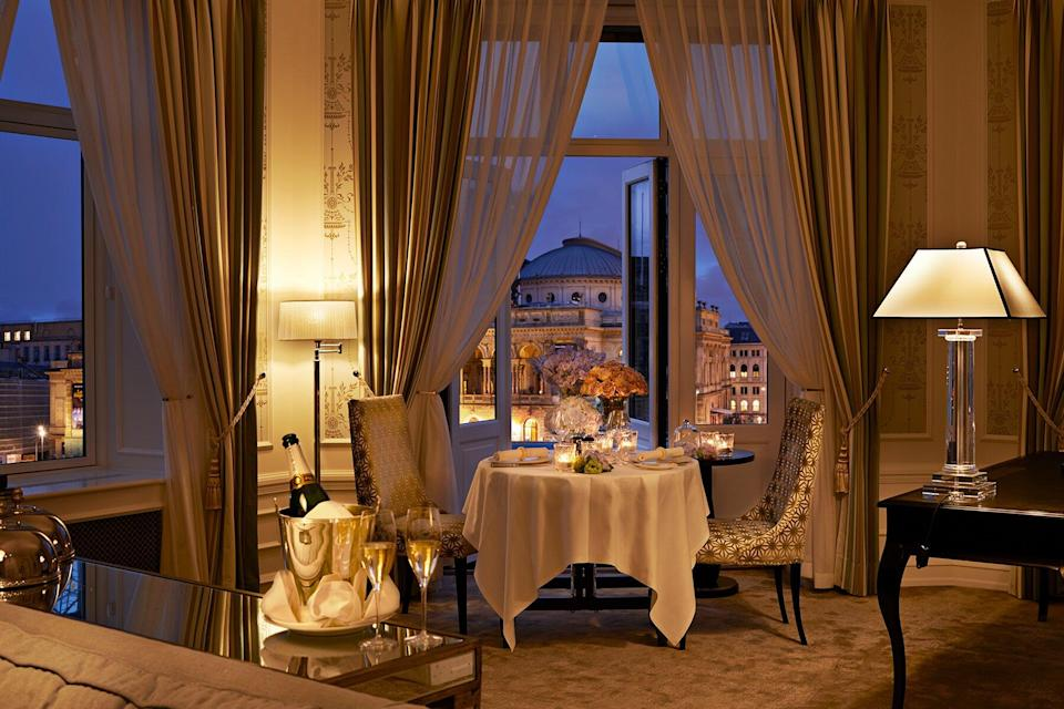 Private dinner in Themed Suite at d'Angleterre